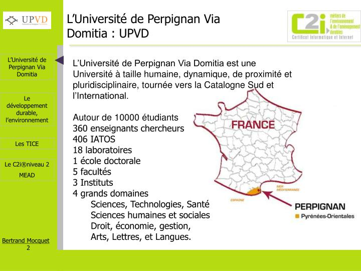 L universit de perpignan via domitia upvd