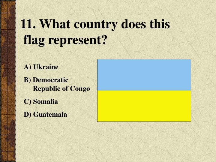 11. What country does this
