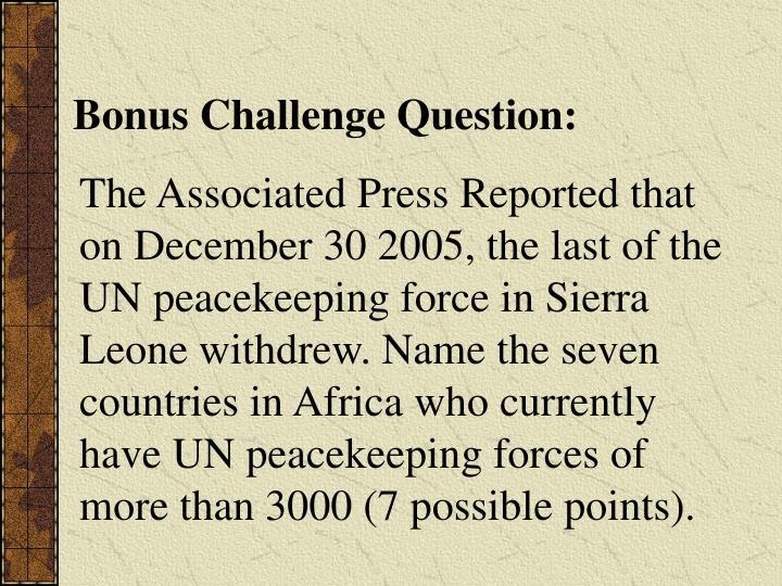 Bonus Challenge Question: