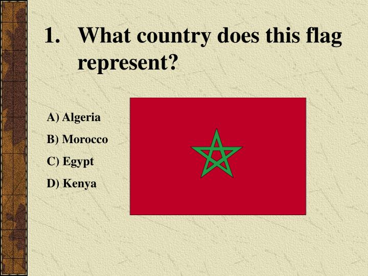 What country does this flag represent?
