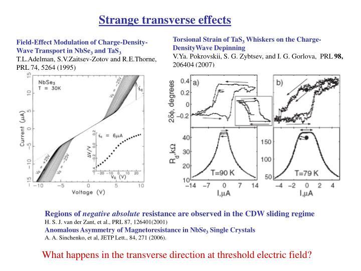 Strange transverse effects