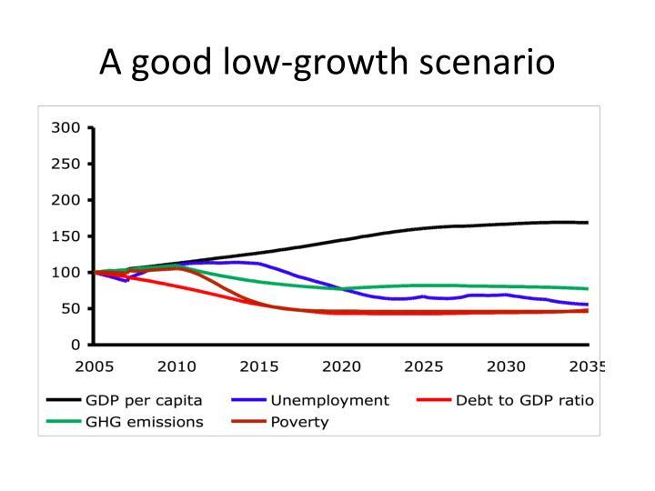 A good low-growth scenario