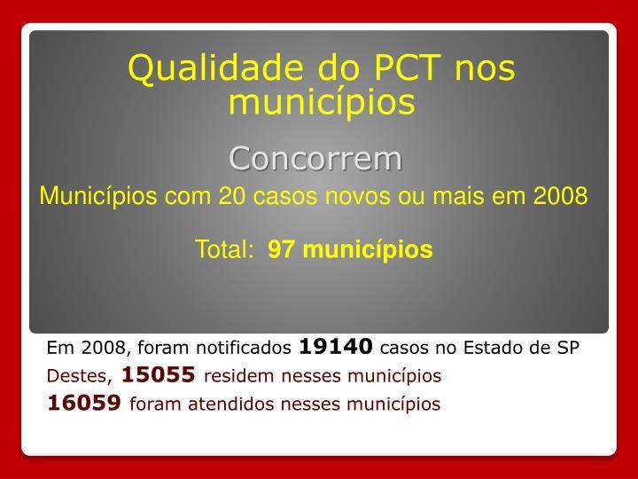 Qualidade do PCT nos municípios