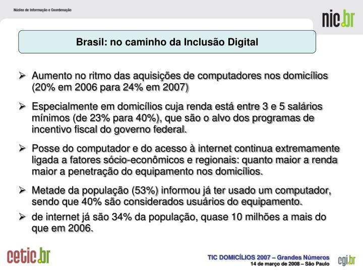 Brasil: no caminho da Inclusão Digital