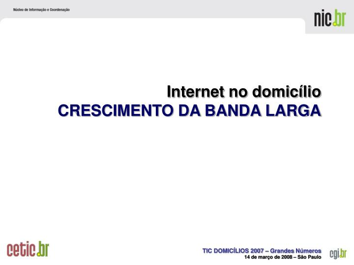 Internet no domicílio