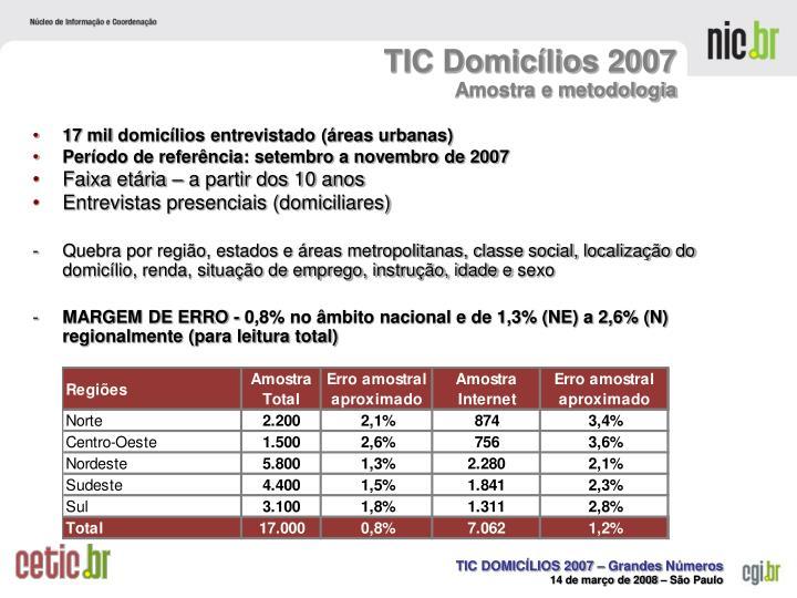 TIC Domicílios 2007