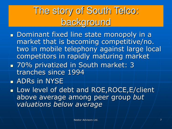 The story of South Telco: background