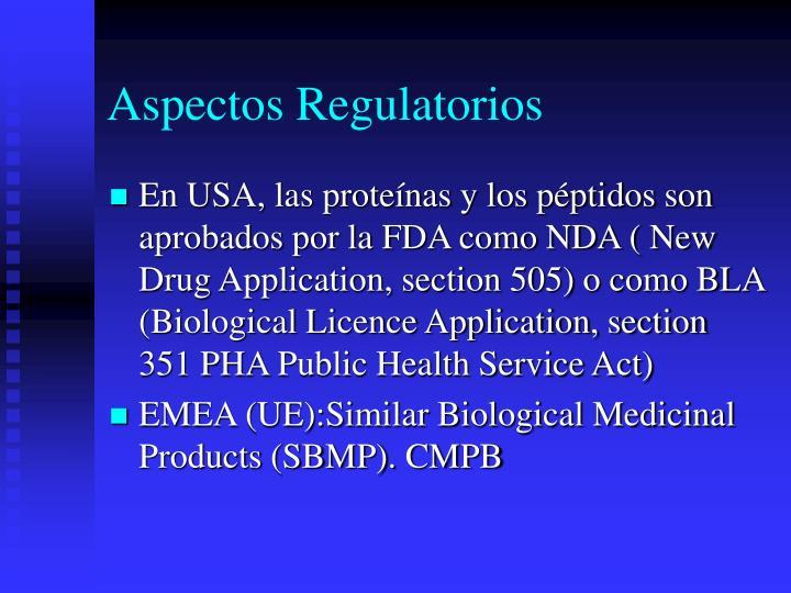 Aspectos Regulatorios