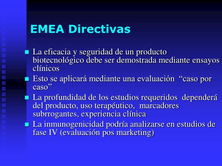 EMEA Directivas