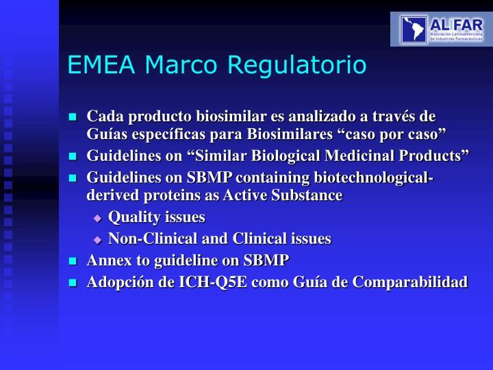 EMEA Marco Regulatorio