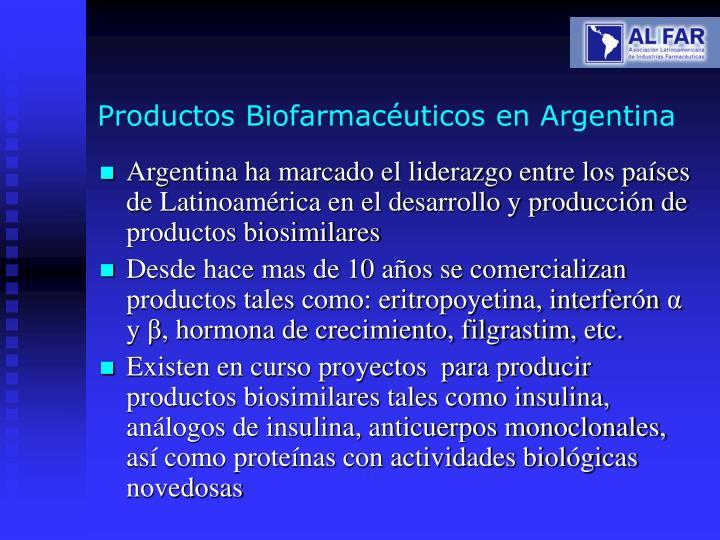 Productos Biofarmacéuticos en Argentina