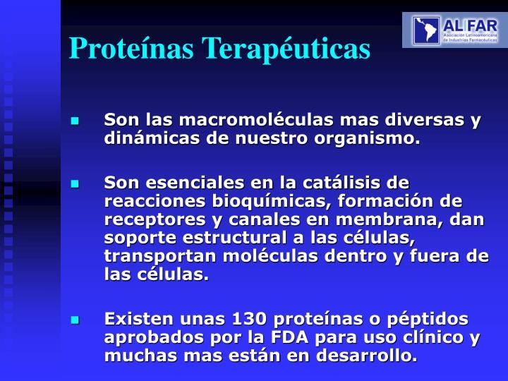 Proteínas Terapéuticas