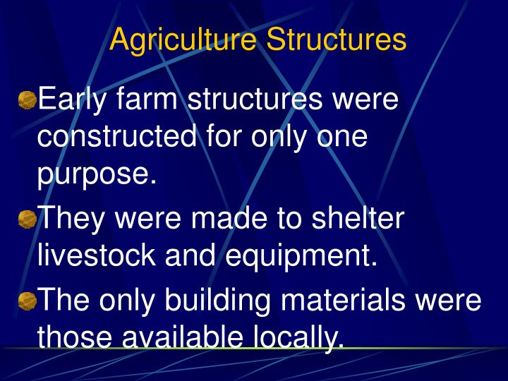 Agriculture Structures