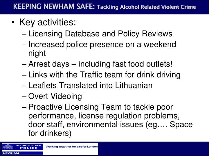 Key activities: