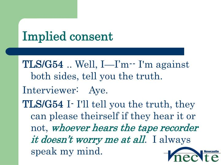 Implied consent