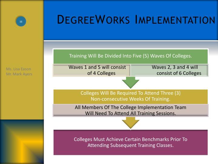 DegreeWorks Implementation