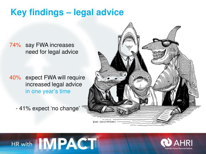 Key findings – legal advice
