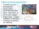 today s economic environment