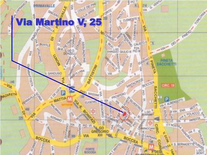 Via Martino V, 25