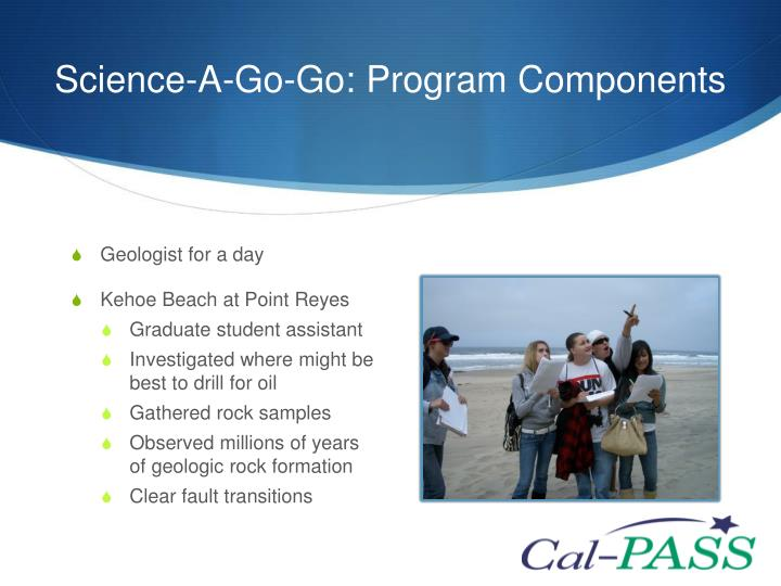 Science-A-Go-Go: Program Components