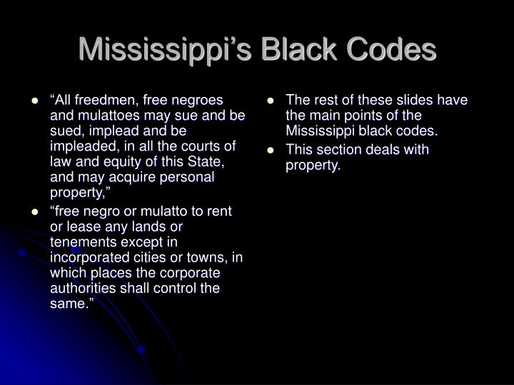 """""""All freedmen, free negroes and mulattoes may sue and be sued, implead and be impleaded, in all the courts of law and equity of this State, and may acquire personal property,"""""""