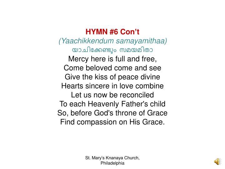 HYMN #6