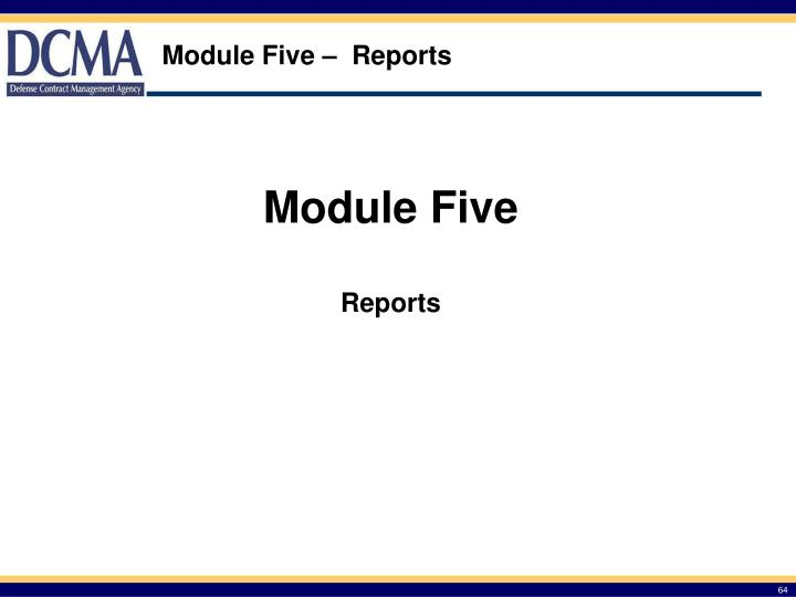 Module Five –  Reports