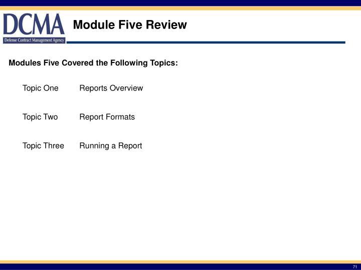 Module Five Review