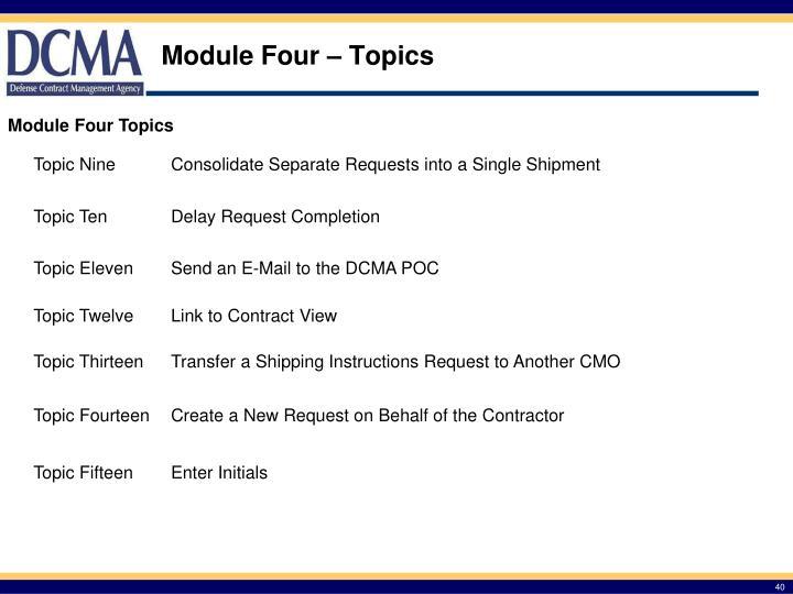 Module Four – Topics
