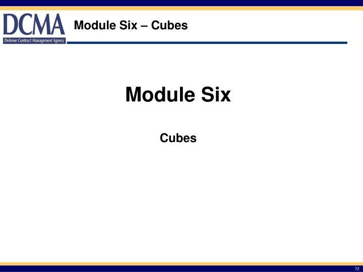 Module Six – Cubes