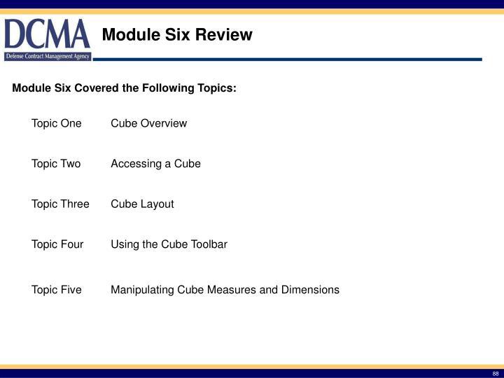Module Six Review