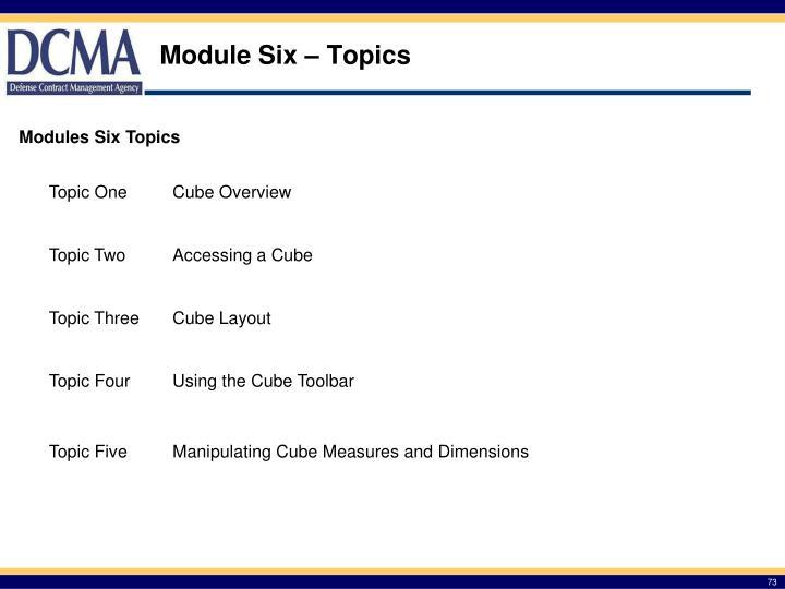 Module Six – Topics