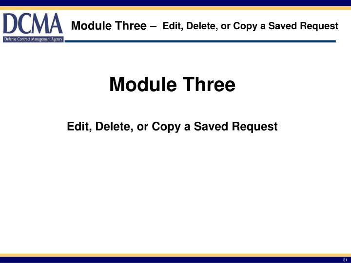 Edit, Delete, or Copy a Saved Request