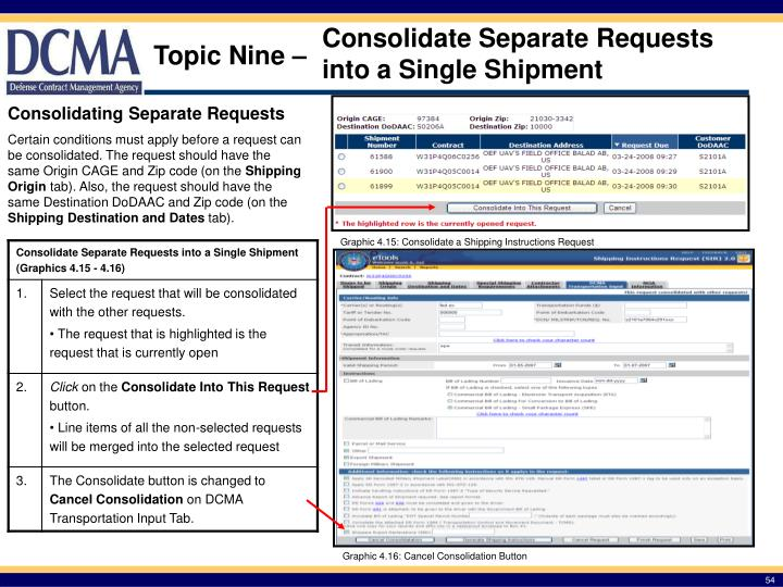 Consolidate Separate Requests into a Single Shipment