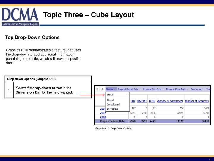 Topic Three – Cube Layout