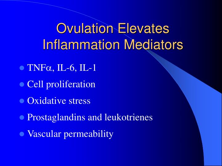 Ovulation Elevates Inflammation Mediators