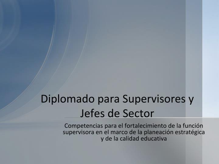 Diplomado para Supervisores y Jefes de Sector