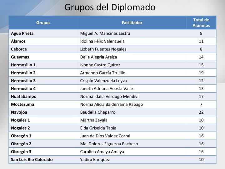 Grupos del Diplomado
