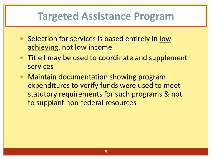 Targeted Assistance Program