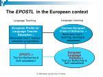 the epostl in the european context