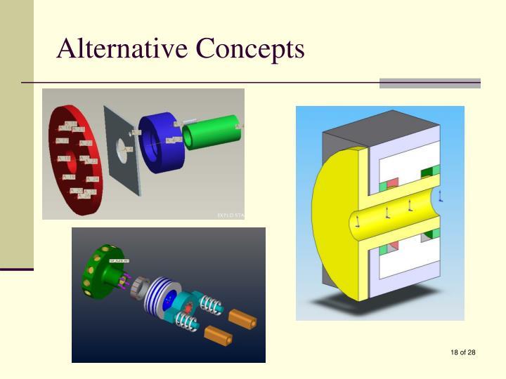 Alternative Concepts