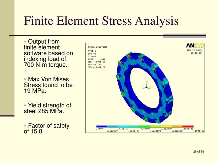 Finite Element Stress Analysis