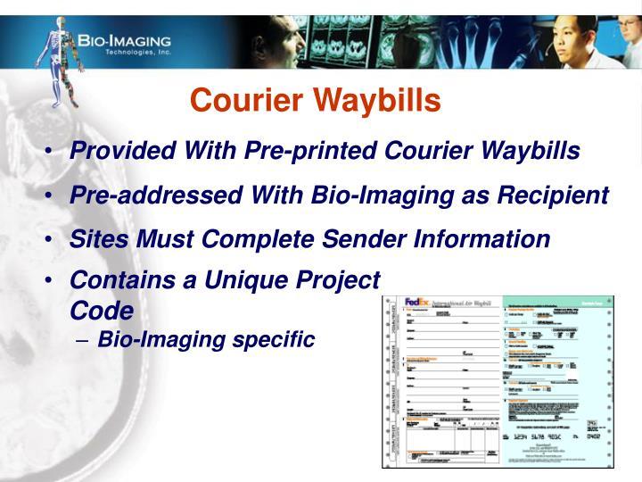 Courier Waybills