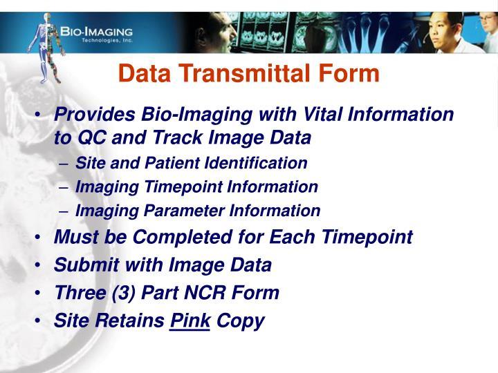 Data Transmittal Form