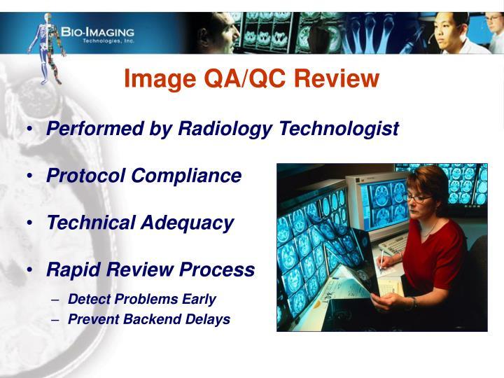 Image QA/QC Review