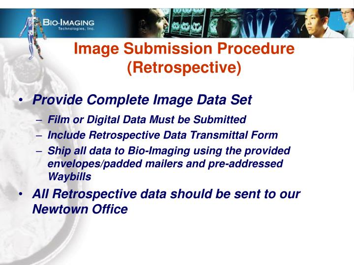 Image Submission Procedure