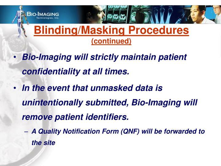 Blinding/Masking Procedures