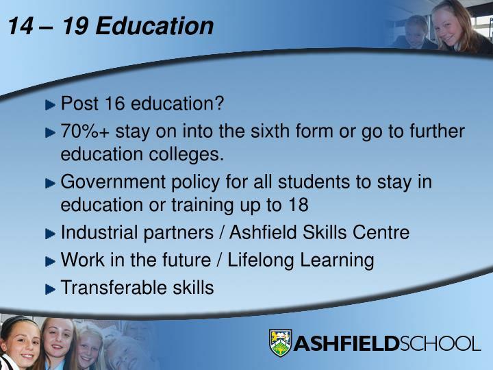 14 – 19 Education