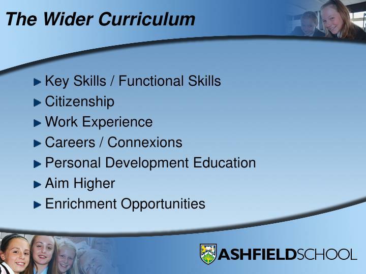 The Wider Curriculum