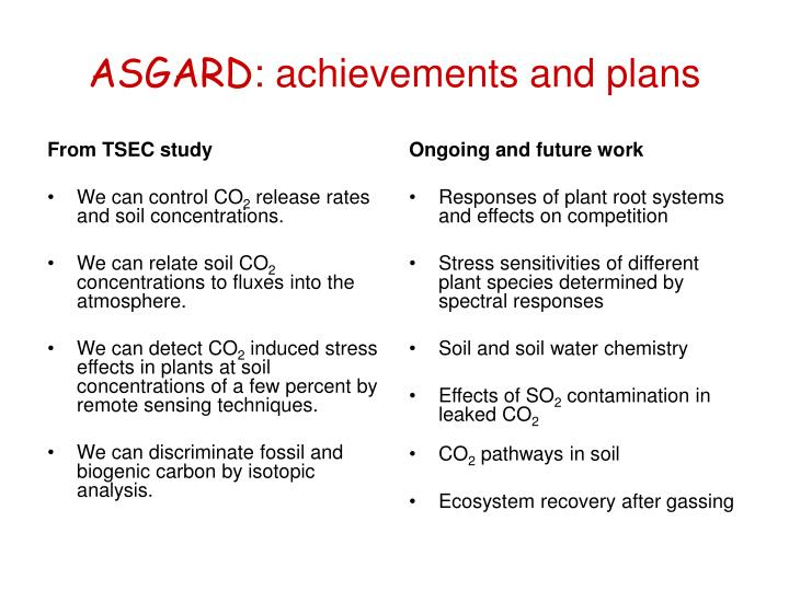 From TSEC study
